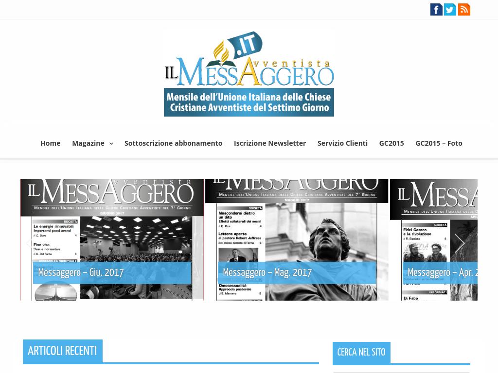 Il Messaggero Avventista in digitale
