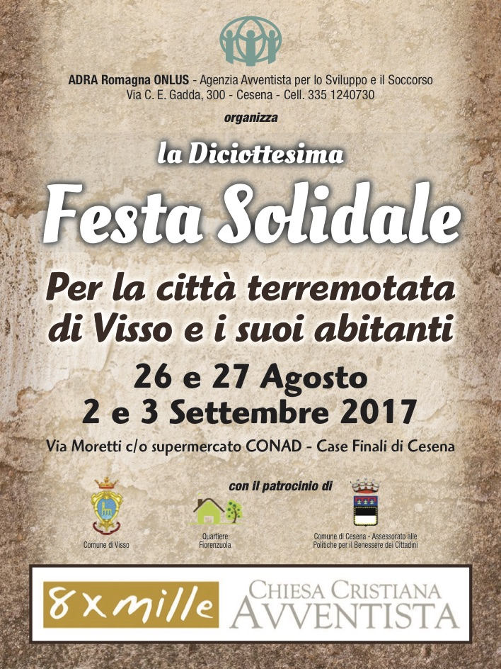 Cesena. Festa Solidale 2017 pro Visso