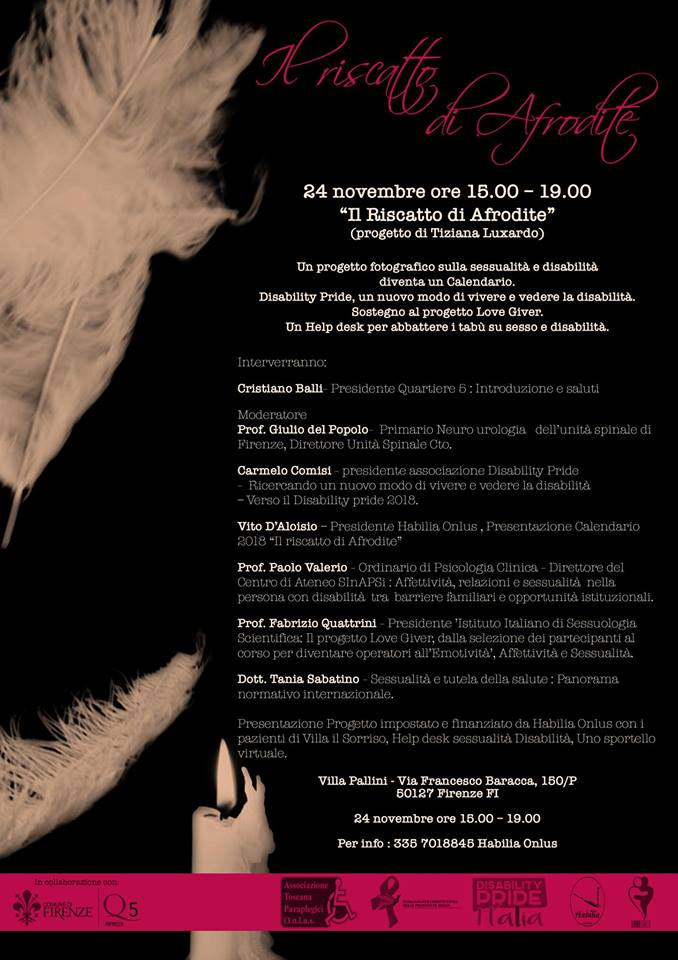 Firenze. Convegno su sessualità e affettività nella disabilità